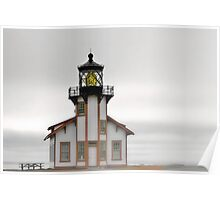 Point Cabrillo Lighthouse, California, in Fog Poster