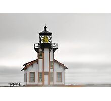 Point Cabrillo Lighthouse, California, in Fog Photographic Print