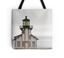 Point Cabrillo Lighthouse, California, in Fog Tote Bag