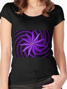 Somewhere are Purple Flowers Blooming Women's Fitted Scoop T-Shirt