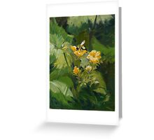 Cucumber Blossoms Greeting Card