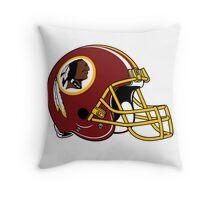 washington redskins helmet logo Throw Pillow