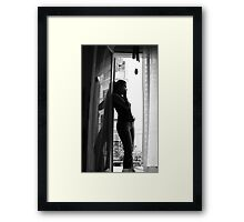Chatting and wandering Framed Print