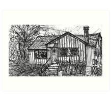 Bygone Humble Abode Art Print