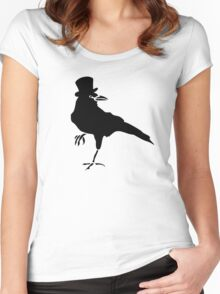 HELLO MISTER CROW Women's Fitted Scoop T-Shirt