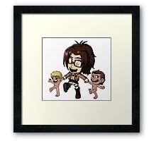 Hanji and her Babies Framed Print