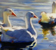 Duck Pond in Evening by Dan Lewis