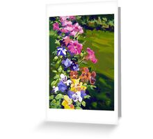 Petunias and Pansies  Greeting Card