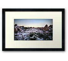 Frozen Plateau Framed Print