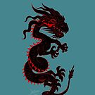 Black Dragon with Red Style by Dave Stephens