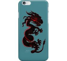 Black Dragon with Red Style iPhone Case/Skin