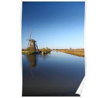 Mills in Kinderdijk near Rotterdam, NL Poster