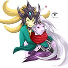Nami and Varus - League of legends by bastetsama