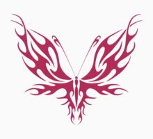 PINK TRIBAL BUTTERFLY by David Paul