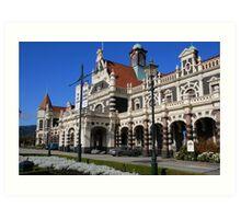 New Zealand: Dunedin Railway Station Art Print