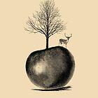 DEER APPLE TREE by wolfandbird