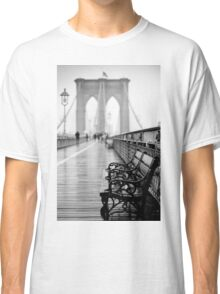 Brooklyn Bridge Bench Classic T-Shirt