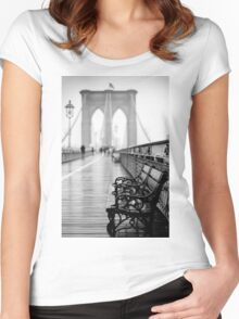 Brooklyn Bridge Bench Women's Fitted Scoop T-Shirt