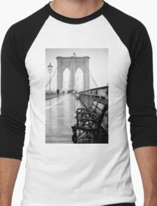 Brooklyn Bridge Bench Men's Baseball ¾ T-Shirt