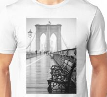 Brooklyn Bridge Bench Unisex T-Shirt