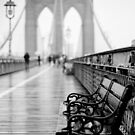 Brooklyn Bridge Bench by Randy  LeMoine