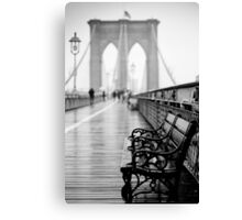 Brooklyn Bridge Bench Canvas Print