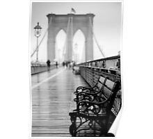 Brooklyn Bridge Bench Poster