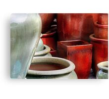 """ Texture with Pots "" Canvas Print"