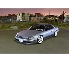 Silver Nissan S13 Silvia Photographic Print