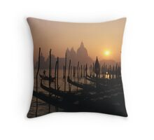At The End of the Day -Venice Throw Pillow
