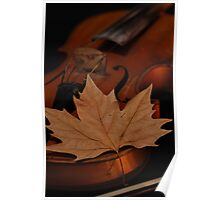 The music of Autumn Poster
