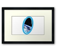 Portal 2: view from the moon Framed Print