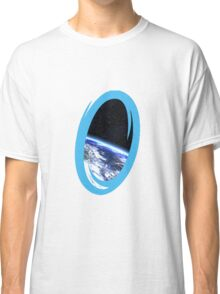 Portal 2: view from the moon Classic T-Shirt