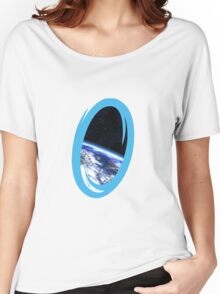 Portal 2: view from the moon Women's Relaxed Fit T-Shirt