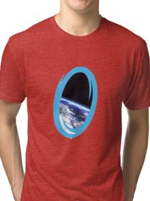 Portal 2: view from the moon Tri-blend T-Shirt