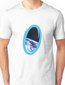 Portal 2: view from the moon Unisex T-Shirt
