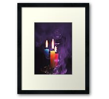 Crystal Ball and Candlelight Framed Print