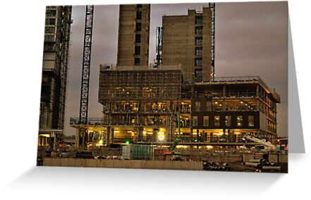 Salford Quays Night Construction by Stan Owen