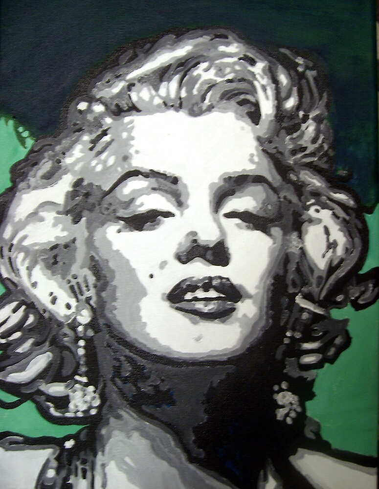 Marylin Monroe pop art by Deborah Boyle