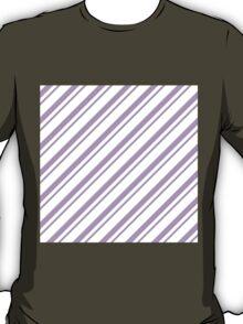 Lilac Thin Diagonal Stripes T-Shirt