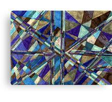 Abstract Art Study - Blues & Browns & Greys Canvas Print
