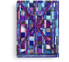 Abstract Art Study - Blues & Purples Canvas Print