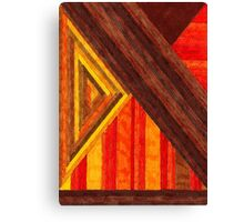 Abstract Art Study - Browns & Oranges & Reds Canvas Print