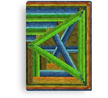 Abstract Art Study - Left Triangle Canvas Print