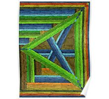 Abstract Art Study - Left Triangle Poster