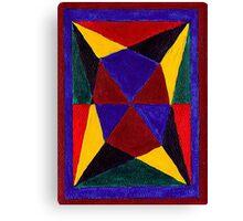 Abstract Art Study - Bold Glass Canvas Print