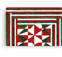 Abstract Art Study - Christmas Memories Canvas Print