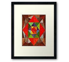 Abstract Art Study - Red Diamond Framed Print