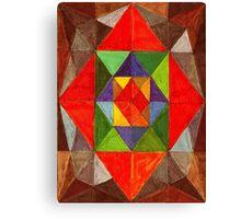 Abstract Art Study - Red Diamond Canvas Print
