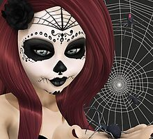 Black Widow Sugar Doll by 2HivelysArt